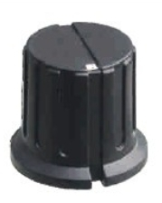 Pointer Knob Classic, Fluted black