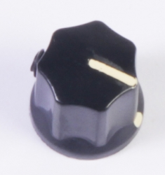Mesa Boogie small, Black Single Slotted Knob