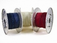 cloth covered wire, awg 20, solid white