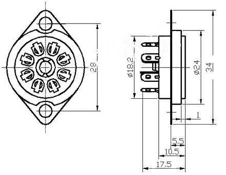 Billedresultat for 8-Pin Oktal/Rimlock