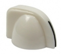 chicken head style pointer knob mini, white, push on