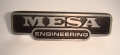 Mesa Boogie Engineering name plate, mini recto 25