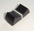 Slide control knob, black with white line 24 mm
