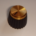 Marshall knob D-Shaft push-on, gold cap