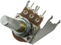 Fender style Potentiometer Snap-in 100K lin, D-Achse