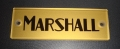 Marshall gold block logo, name plate JTM1