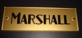 Marshall gold block logo plaque / name plate, plexi