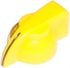 pointer knob yellow, chicken head style