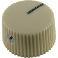 Fender style vintage barrel cream-white knob
