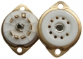 9-pin ceramic tube socket, gold plated