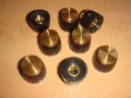 Marshall knobs shaft with set-screw, gold cap, 8 p.