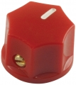 Pointer Knob Classic Small, Fluted red